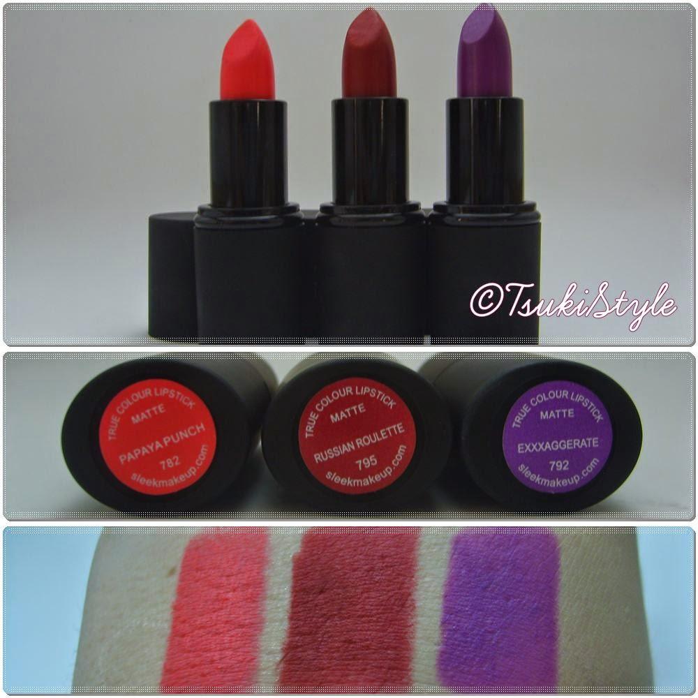 matte lipstick sleek, tsuki style makeup