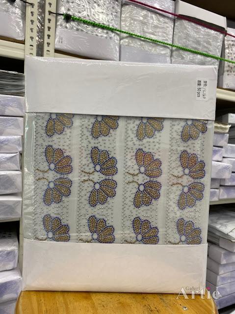 Pelekat hotfix sticker rhinestone DMC aplikasi tudung bawal fabrik pakaian bunga 8 keoplak