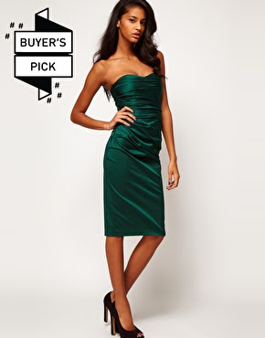 ASOS green cocktail dress