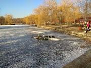 Látványos jégről mentési gyakorlaton tették próbára magukat megyénk tűzoltói