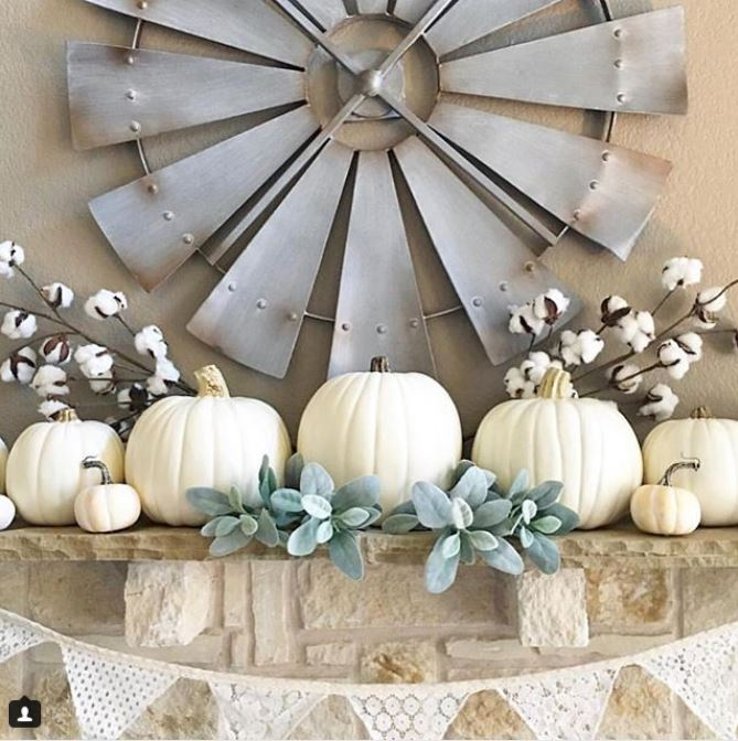 Farmhouse style fall mantle decor ideas