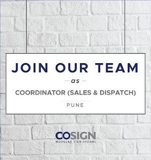 Any Graduate/ ITI/ Diploma Jobs Vacancy For Position Coordinator (sales & dispatch) in  Cosign India Pvt Ltd, Pune