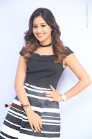 Actress Mi Rathod Pos Black Short Dress at Howrah Bridge Movie Press Meet  0070.JPG