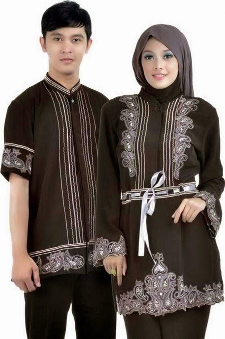 Baju Muslim Couple Warna Hitam Elegan