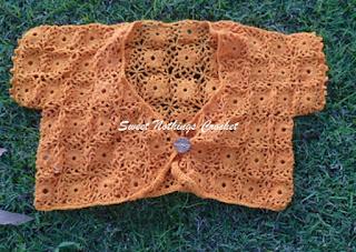 free crochet bolero pattern, free crochet granny squares pattern