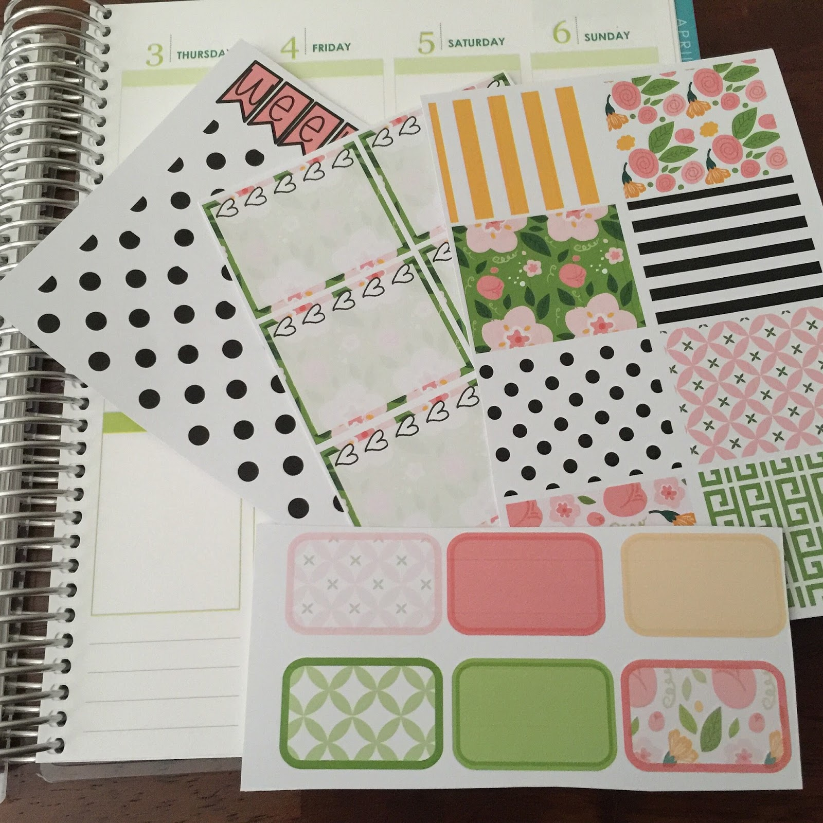 The Holladay Life How To Make Your Own Erin Condren Weekly - Make your own decal kit