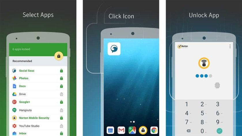 App lock  - Norton App Lock screenshot 840x472 - *New* Top 10 Best App Locks and Privacy Lock for Android Devices