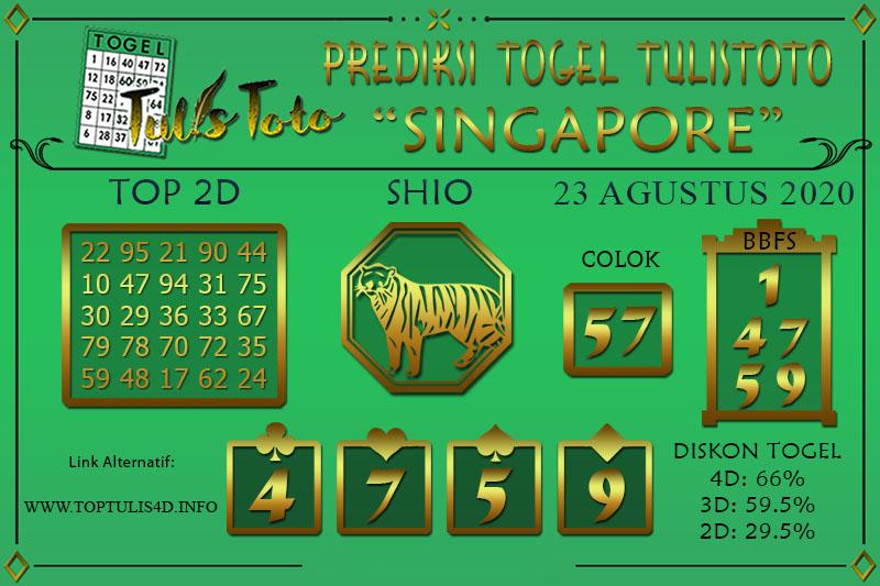 Prediksi Togel SINGAPORE TULISTOTO 23 AGUSTUS 2020