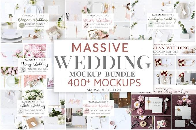 Wedding Mockup Bundle 400+