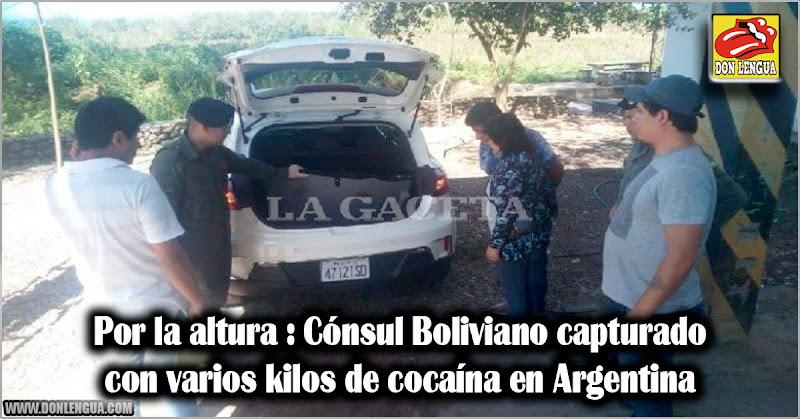 Por la altura : Cónsul Boliviano capturado con varios kilos de cocaína en Argentina