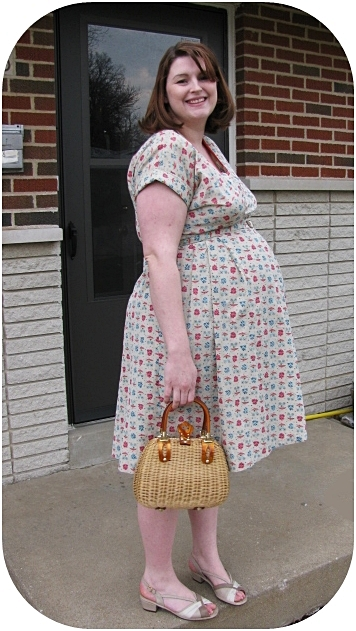 1950s vintage maternity dress from Va-Voom Vintage