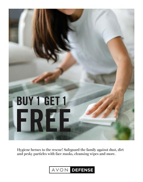Buy One 1 Get 1 FREE - AVON Flyer Campaign 22 2020
