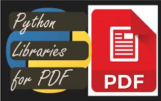 Python libraries for pdf