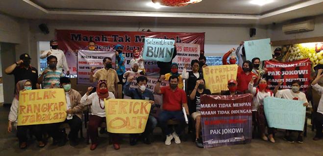 Relawan Jokowi: Lakukan Reshuffle, Marah-marah Bukan Solusi!