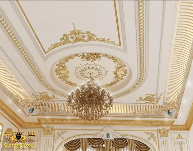 الوان اسقف جبس ذهبية