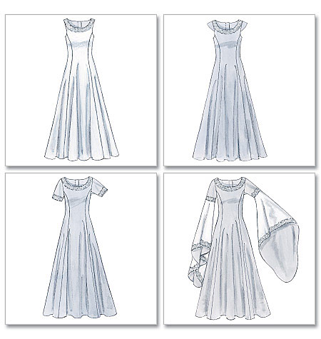 Medieval bride make your own gown patterns for Can i make my own wedding dress