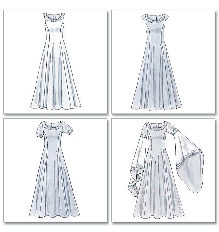 Medieval Bride Make Your Own Gown Patterns