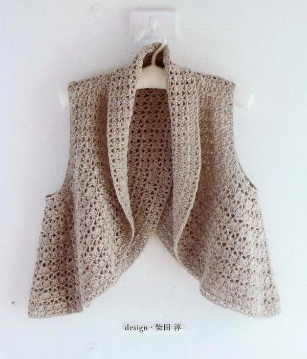 crochet bolero / crochet vest for woman