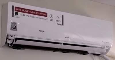 LG 1 Ton 5 Star Inverter Split AC (Copper, KS-Q12YNZA, White)