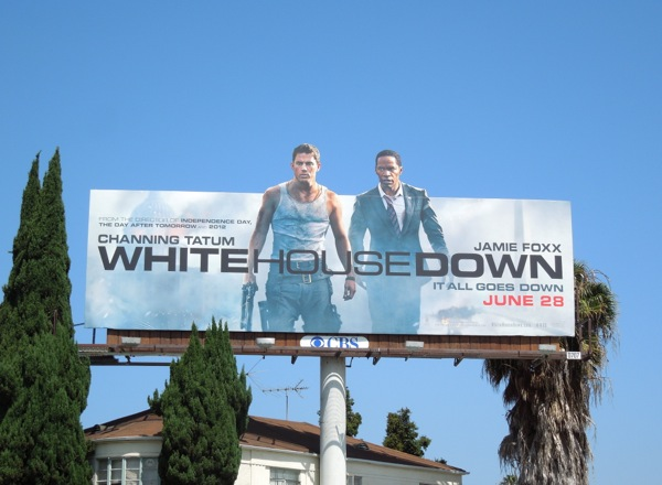 White House Down movie billboard