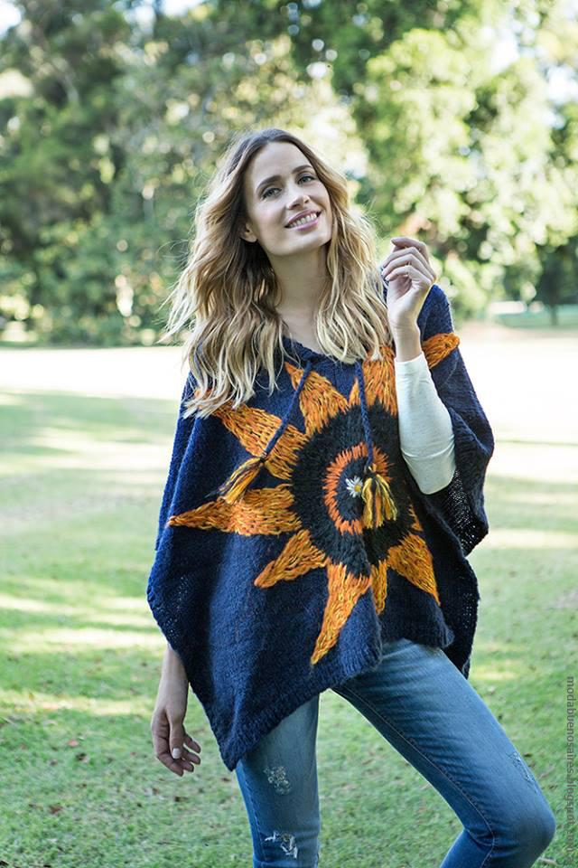 Moda invierno 2016 tejidos artesanales ponchos tejidos a mano.