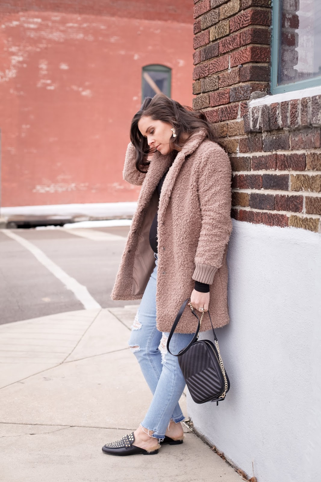 Styling a teddy coat with a baby bump