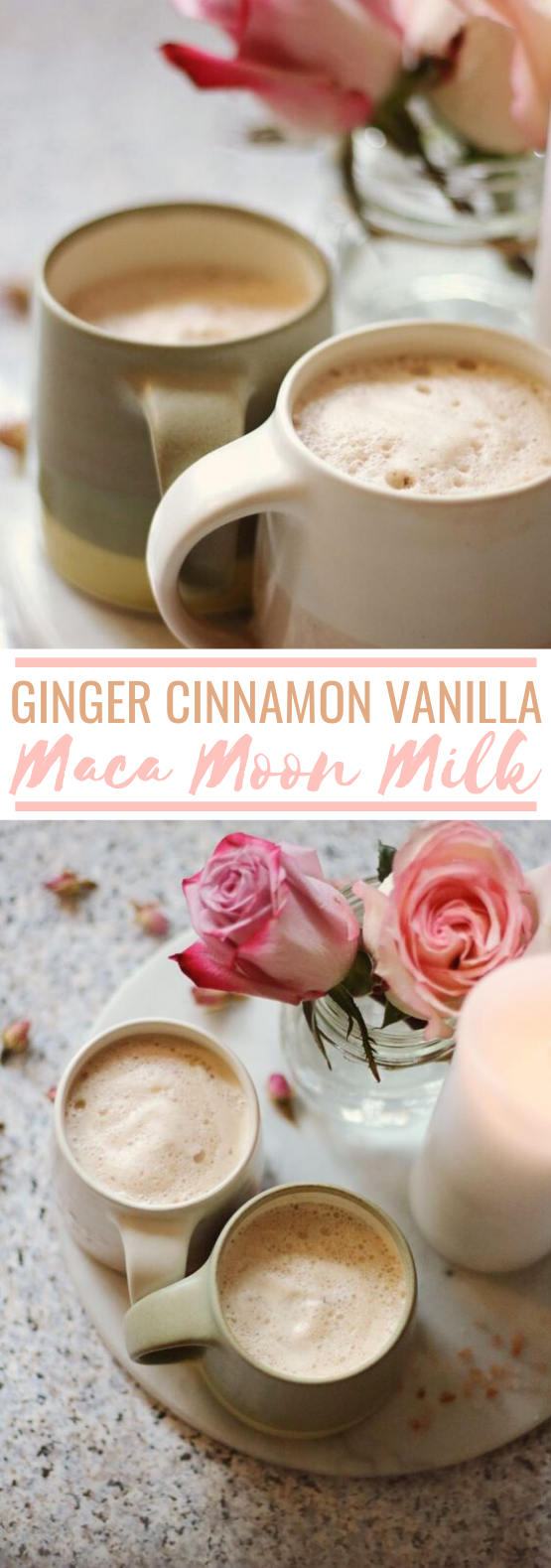 Ginger Cinnamon Vanilla & Maca Moon Milk #healthy #drinks #milk #latte #hot