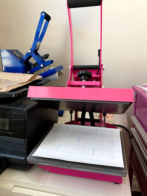 pink heat press, heat press, heat press machine, cameo 4, sawgrass