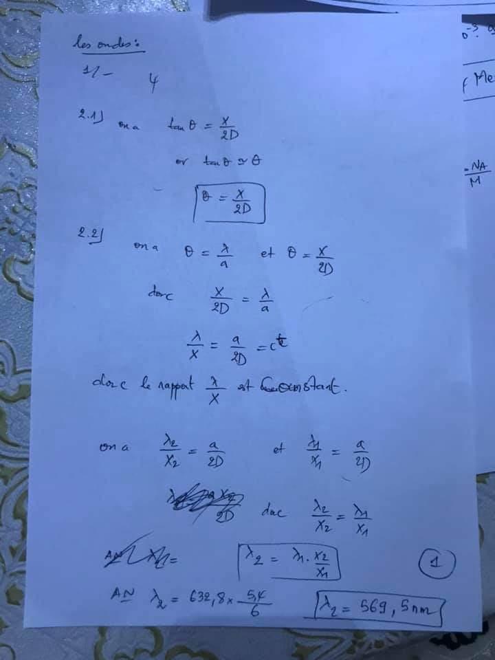 تصحيح الامتحان الوطني للباكالوريا الدولية  مادة الفيزياء و الكيمياء (علوم رياضية)