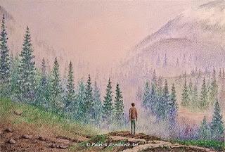 Tra le montagne nebbiose