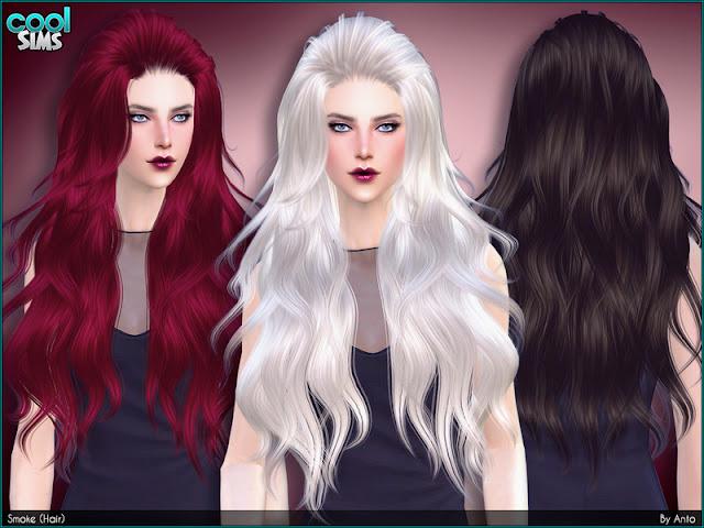 Женские длинные подколотые прически для The Sims 4 со ссылками на скачивание,