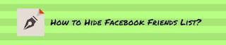 hide facebook friend list