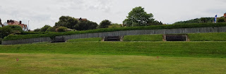 Benches at Holbeck Putting at South Cliff Gardens in Scarborough