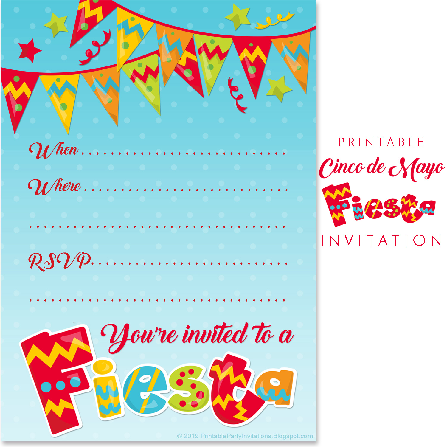 This is a photo of Free Printable Fiesta Invitations inside etsy