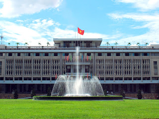 Reunification Palace in Saigon (Vietnam)