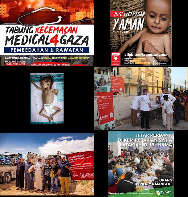 Misi bantuan kepada saudara seagama kita di Syria, Gaza, dan Yaman