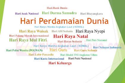 Daftar Hari Besar dan Hari Penting Nasional