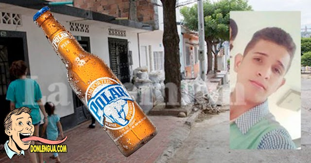 Venezolano asesinado en Cúcuta por tomar un sorbo de cerveza directo de la botella