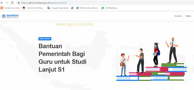 gambar situs resmi https://gtk.kemdikbud.go.id/banpems12019/