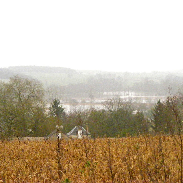 Indre flood meadows from Loches heights, Indre et Loire, France. Photo by Loire Valley Time Travel.