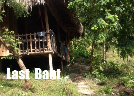 a beach bungalow in the jungle on Koh Rong Island, Cambodia