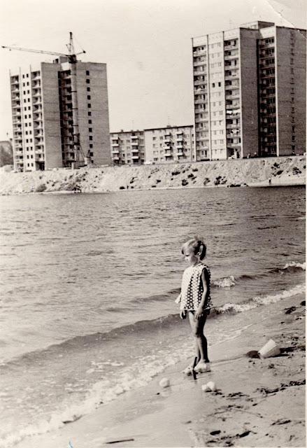 1971 год. Югла. Еще не достроены набережная и дома на аллее Видземес