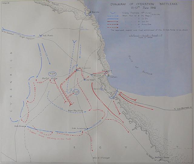 A map diagram of Operation Battleaxe 15 June 1941 worldwartwo.filminspector.com
