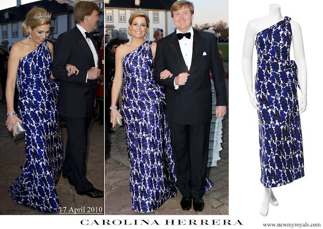 Queen Maxima wore Carolina Herrera floral print dress for Queen Margrethe 70th birthday