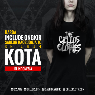 Tarif  Harga [ ESTIMASI ] Sablon Kaos Include Ongkir ke Seluruh Indonesia