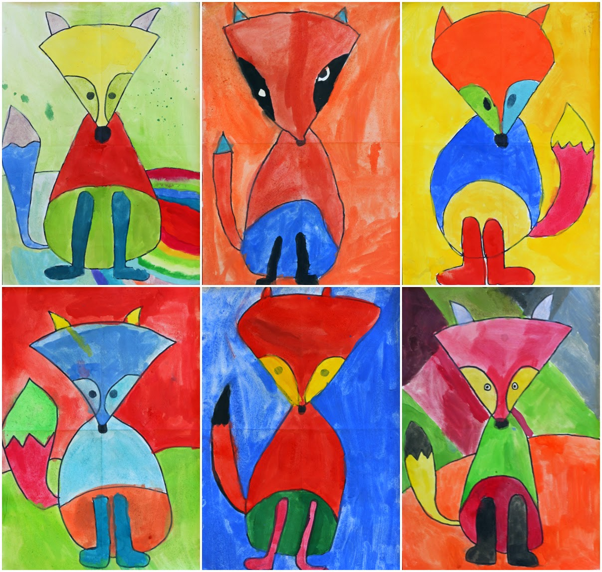 Art With Mr Hall Fantastic Fauvist Foxes
