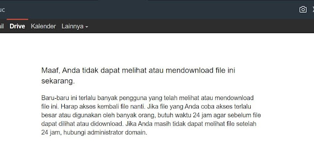 Limit Pada Google Drive