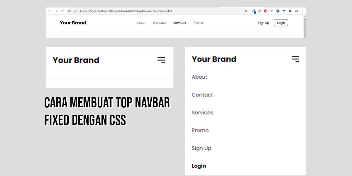 Cara Membuat Top Navbar Fixed Dengan CSS
