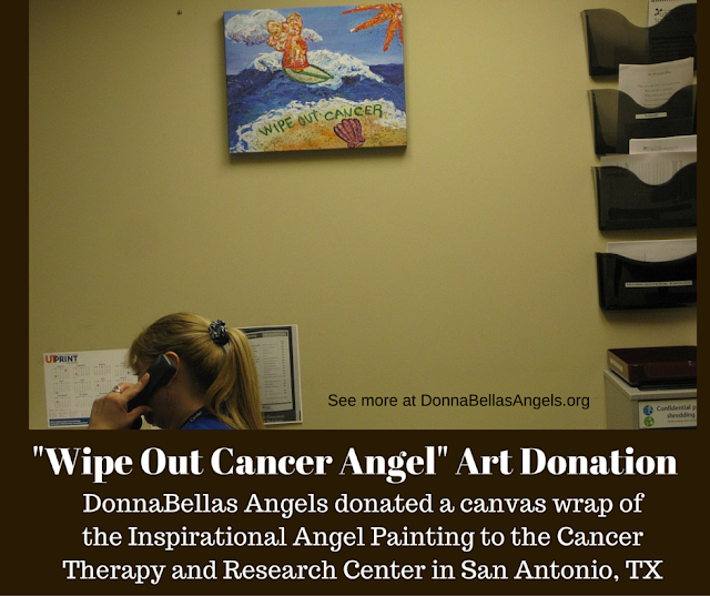 Wipe Out Cancer Angel Art Donation to CTRC Medical Clinic in San Antonio, TX