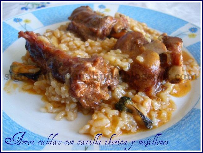Siguiendo a nenalinda arroz caldoso con costilla de cerdo - Arroz caldoso con costillas y alcachofas ...